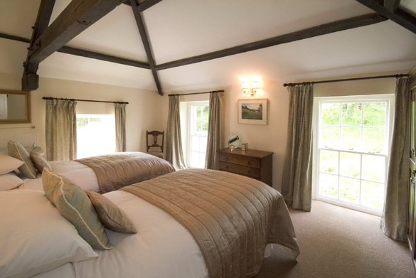 The upstairs twin at Croft House (sleeps 12)
