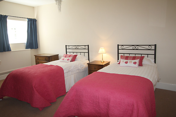 The downstairs twin at Croft House (sleeps 12)