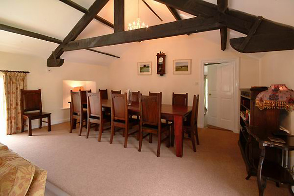 The dining area at Croft House (sleeps 12)