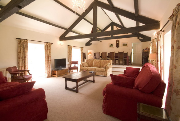 The main sitting room with dining area at Croft House (sleeps 12)